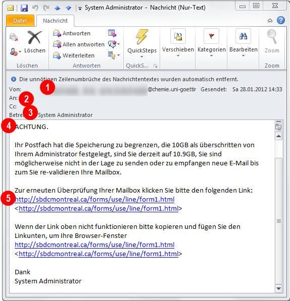 Phishing Mails Zentrum Für Datenverarbeitung