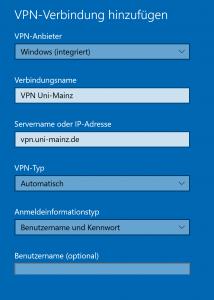 Konfiguration von VPN unter Windows 10 | Zentrum für ...
